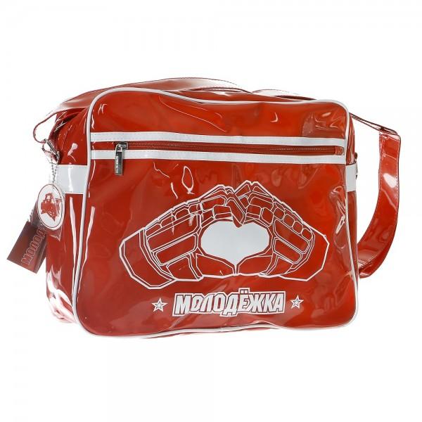 Сумка Robin Ruth, цвет: красный. BRU008BRU008-AСтильная сумка Robin Ruth изготовлена из поливинилхлорида, оформлена изображением логотипа популярного сериала и декоративной подвеской. Изделие содержит одно основное отделение, которое закрывается на застежку-молнию. Внутри сумки расположены два накладных кармашка для мелочей и врезной карман на молнии. Лицевая сторона изделия дополнена врезным карманом на молнии. Сумка оснащена наплечным ремнем регулируемой длины. Дно сумки дополнено металлическими ножками. Стильный аксессуар с ярким дизайном будет приятным напоминанием о любимом сериале.