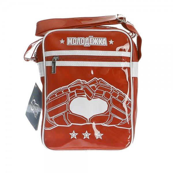 Сумка Robin Ruth, цвет: красный. BRU009BRU009-AСтильная сумка Robin Ruth изготовлена из поливинилхлорида, оформлена изображением логотипа популярного сериала и декоративной подвеской. Изделие содержит одно основное отделение, которое закрывается на застежку-молнию. Внутри сумки расположены: накладной кармашек для телефона и врезной карман на молнии. Лицевая сторона изделия дополнена врезным карманом на молнии. Сумка оснащена наплечным ремнем регулируемой длины. Стильный аксессуар с ярким дизайном будет приятным напоминанием о любимом сериале.