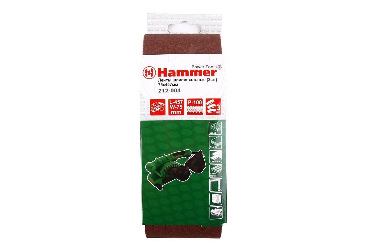 Лента шлиф. Hammer Flex 212-004 75 Х 457 Р 100 по 3 шт.29394Лента шлифовальная Hammerflex предназначена для использования с ленточными шлифмашинами. Изготовлена из качественного абразивного сырья высокой твердости и стойкости к разрушению. Прочная тканевая основа обладает низким растяжением при работе. Современная технология склейки ленты исключает вероятность ее разрыва в области соединения. Применяется для зачистки различных поверхностей: мягкой и твердой древесины, ДСП, ДВП, фанеры, ламината, а также работ по металлу. В комплекте - 3 ленты. Материал: абразивное сырье, текстиль.