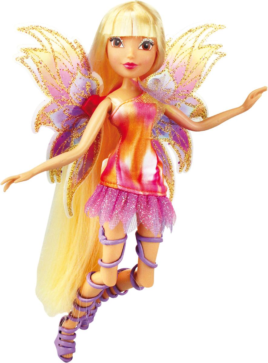 Winx Club Кукла Мификс СтеллаIW01031400_СтеллаНовое волшебное превращение из 6 сезона м/ф Наряды и крылышки кукол полностью повторяют образы фей из м/ф! Руки/ноги подвижные. Ноги на шарнирах. Шикарные длинные волосы. В коробке с куклой есть карточка с уникальным кодом для бесплатного доступа к доп.свойствам персонажей в приложении для моб.устройств В наборе: кукла в одежде и обуви, съемные подвижные крылышки, пластик.скипетр для куклы, карточка с кодом