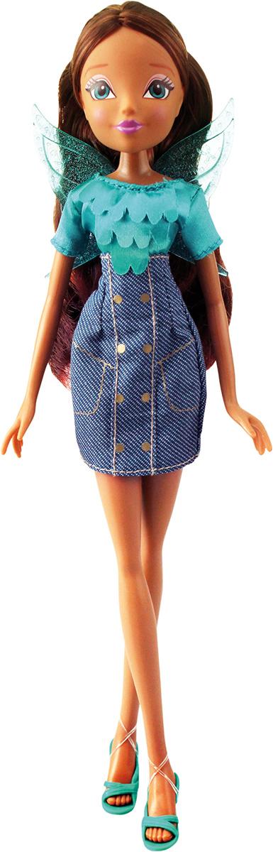 Winx Club Кукла Деним ЛейлаIW01081400_ЛейлаДеним никогда не перестает быть модным, и Винс об этом хорошо известно! Подружки-феи облачаются в стильные джинсовые платья! Руки/ноги не сгибаются. В наборе: кукла в одежде и обуви, съемные пластиковые крылышки. Компактная упаковка. Блистер.