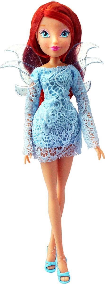 Winx Club Кукла Кружева БлумIW01171400_БлумКружевные, воздушные платья! Съемные разноцветные пряди для волос в наборе! Руки/ноги неподвижные. В наборе: кукла в одежде и обуви, съемные пластиковые крылышки, съемные разноцветные пряди для волос в наборе.