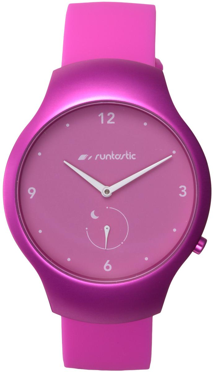 Часы наручные Runtastic Moment Fun, спортивные, цвет: розовый. RUNMOFU3RNT_RUNMOFU3Спортивные часы Runtastic Moment Fun выполнены из нержавеющей стали, пластика, силикона и минерального стекла. Модель Runtastic Moment Fun представляет собой стильные наручные часы с круглым аналоговым циферблатом. Многофункциональные спортивные часы оснащены функцией Bluetooth Smart, которая позволит синхронизировать часы с самртфоном. Корпус часов имеет степень водонепроницаемости 100м и дополнен устойчивым к царапинам минеральным стеклом. Ремешок часов выполнен из силикона, а также оснащен практичной пряжкой, которая позволит с легкостью снимать и надевать изделие. Комплект поставки включает: часы, элемент питания, инструмент для замены элемента питания, 4 дополнительных винта. Изделие поставляется в фирменной упаковке. Гаджет способен оживить любой наряд и идеально подходит для активного образа жизни. Высокое качество, свежий дизайн и инновационные технологии позволяют достигать поставленных целей, контролировать ежедневный прогресс. Совместимость...