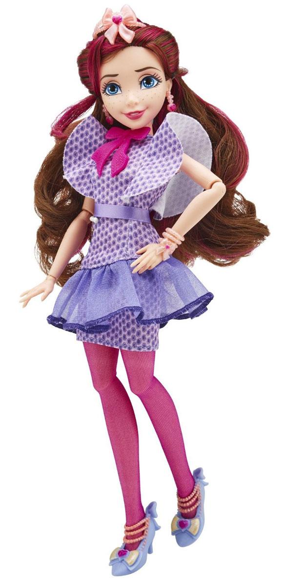 Disney Descendants Кукла Джейн цвет платья фиолетовыйB3116EU4Кукла Disney Descendants Джейн порадует вашу малышку и доставит ей много удовольствия от часов, посвященных игре с ней. Кукла Джейн из серии Наследники хочет научиться управлять своими магическими способностями. Выглядит она очень красиво, хотя сама она убеждена в том, что истинная красота идет изнутри, а не снаружи. Черты лица проработаны с высокой точностью, поэтому вы без труда узнаете в них свою любимую героиню. На Джейн яркое фиолетовое платье с воланами и ярко-розовым бантом, который украшает наряд. На ногах - розовые колготки, которые отлично сочетаются с платьем. Туфли, входящие в комплект, на высоком каблуке, украшены бантами и нежно-розовыми цепочками. Кроме того в наборе вы найдете браслет и книгу. Волосы куклы длинные, поэтому вы сможете придумывать разнообразные прически, украшать волосы диадемой или просто расчесывать. Руки и ноги Джейн шарнирные, а голова подвижная, что позволит придумывать самые разнообразные сюжеты во время игры с ней....