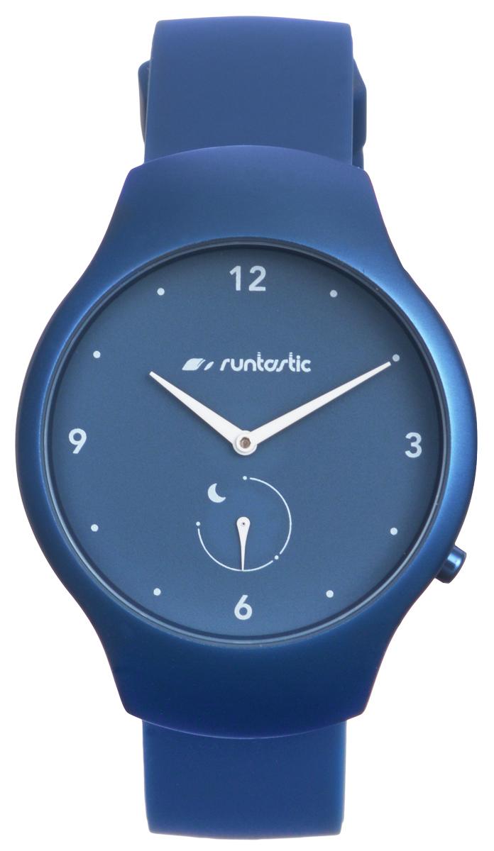 Часы наручные Runtastic Moment Fun, спортивные, цвет: синий. RNT_RUNMOFU2RNT_RUNMOFU2Спортивные часы Runtastic Moment Fun выполнены из нержавеющей стали, пластика, силикона и минерального стекла. Модель Runtastic Moment Fun представляет собой стильные наручные часы с круглым аналоговым циферблатом. Многофункциональные спортивные часы оснащены функцией Bluetooth Smart, которая позволит синхронизировать часы с самртфоном. Корпус часов имеет степень водонепроницаемости 100м и дополнен устойчивым к царапинам минеральным стеклом. Ремешок часов выполнен из силикона, а также оснащен практичной пряжкой, которая позволит с легкостью снимать и надевать изделие. Комплект поставки включает: часы, элемент питания, инструмент для замены элемента питания, 4 дополнительных винта. Изделие поставляется в фирменной упаковке. Гаджет способен оживить любой наряд и идеально подходит для активного образа жизни. Высокое качество, свежий дизайн и инновационные технологии позволяют достигать поставленных целей, контролировать ежедневный прогресс. ...