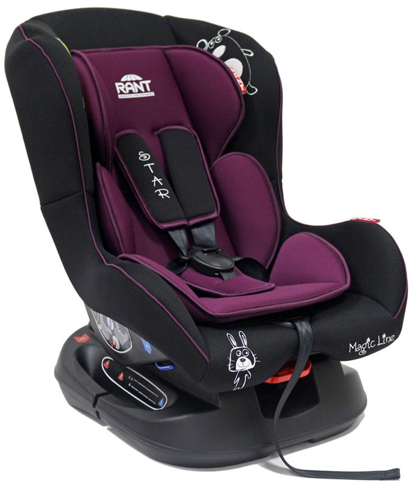 Rant Автокресло Star цвет фиолетовый до 18 кг4630008876688Детское автокресло Rant Star предназначено для детей с рождения и до 18 кг (приблизительно до 4-х лет). Автокресло может устанавливаться как по ходу движения, так и против хода движения. Для новорожденного малыша (0+, 9 кг) автокресло фиксируется в автомобиле против хода движения (лицом назад) пока малыш научится хорошо сидеть. С 7-8 месяцев автокресло фиксируется лицом вперед и эксплуатируется приблизительно до 4-х лет (9+, 18 кг). Особенности: Удобное сидение анатомической формы с мягким матрасиком делает кресло удобным, комфортным и безопасным для малышей. Усиленная мягкая боковая защита обеспечит безопасность и защитит ребенка от ударов при боковых столкновениях. Спинка автокресла имеет регулировку наклона в 3-х положениях. Положение наклона спинки автокресла для комфортного сна в длительных поездках легко регулируются одной рукой при помощи специального рычажка, расположенного в передней части автокресла под чехлом. Автокресло оснащено 5-ти точечными ремнями безопасности с...