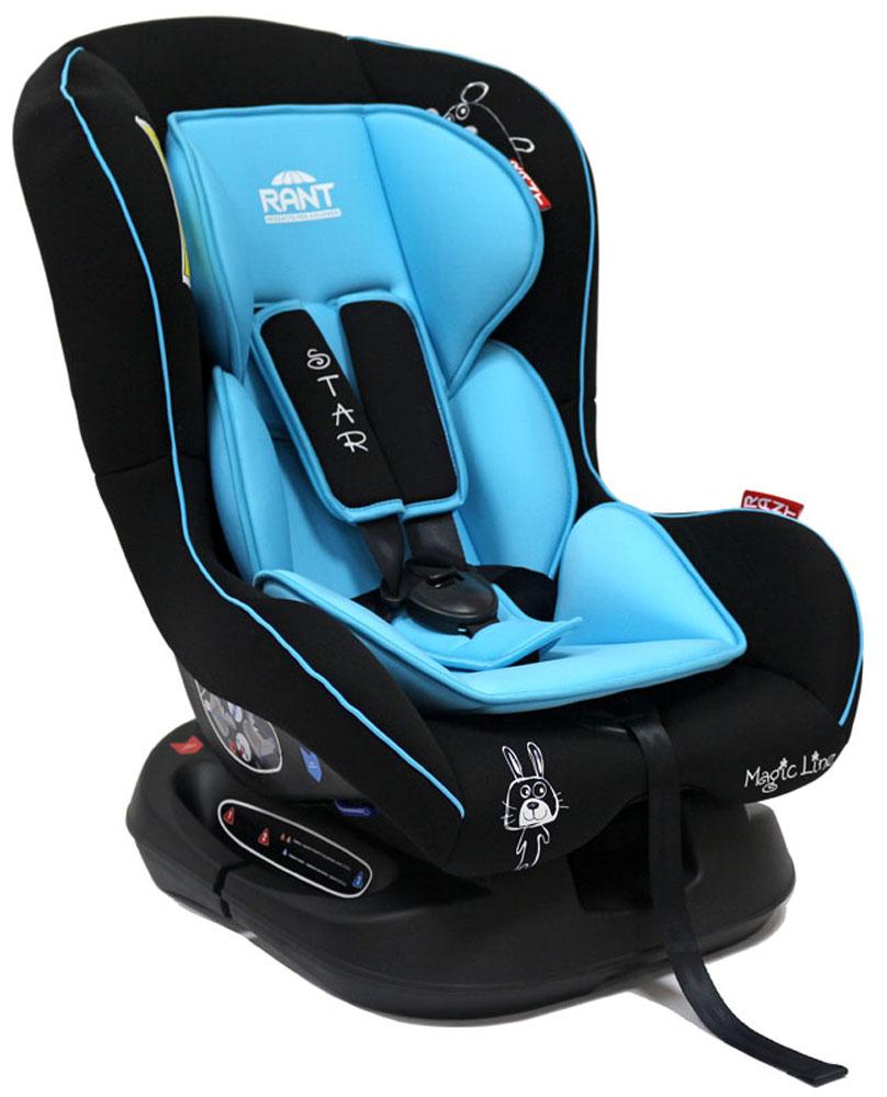 Rant Автокресло Star цвет голубой до 18 кг4630008876701Детское автокресло Star предназначено для детей с рождения и до 18 кг (приблизительно до 4-х лет). Автокресло может устанавливаться как по ходу движения, так и против хода движения. Для новорожденного малыша (0+, 9 кг) автокресло фиксируется в автомобиле против хода движения (малыш лицом назад) пока малыш научится хорошо сидеть. С 7-8 месяцев автокресло фиксируется лицом вперед и эксплуатируется приблизительно до 4-х лет (9+, 18 кг). Особенности: Удобное сидение анатомической формы с мягким матрасиком делает кресло удобным, комфортным и безопасным для малышей. Усиленная мягкая боковая защита обеспечит безопасность и защитит ребенка от ударов при боковых столкновениях. Спинка автокресла имеет регулировку наклона в 3-х положениях. Положение наклона спинки автокресла для комфортного сна в длительных поездках легко регулируются одной рукой при помощи специального рычажка, расположенного в передней части автокресла под чехлом. Автокресло оснащено 5-ти точечными ремнями...