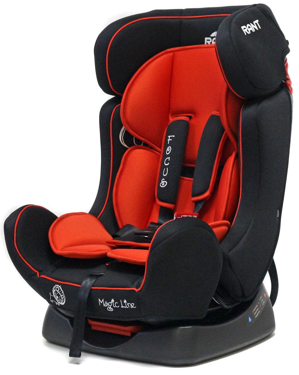 Rant Автокресло Focus цвет красный от 0 до 25 кг4630008878996Автокресло Rant Focus предназначено для детей весом до 25 кг, ориентировочно от рождения до 7 лет. Автомобильное кресло Focus серии Magic Line может устанавливаться как по ходу движения, так и против хода движения. Для новорожденного малыша автокресло фиксируется в автомобиле против хода движения (лицом назад), пока малыш научится хорошо сидеть. С 7-8 месяцев автокресло фиксируется лицом вперед и эксплуатируется приблизительно до 6-7лет (9+, 25 кг.) Сиденье автокресла удобной формы с мягким матрасиком. Наклон сиденья регулируется в трех положениях, предусмотрено положение для сна или 0+. Автокресло оснащено пятиточечными ремнями безопасности с мягкими плечевыми накладками. Накладки обеспечивают плотное прилегание и надежно удержат малыша в кресле в случае ударов. Четыре уровня регулировки высоты внутренних ремней позволяют подобрать удобное положение ремня в зависимости от роста и веса ребенка. В комплект входит зажим для штатного ремня, который фиксирует автомобильный...