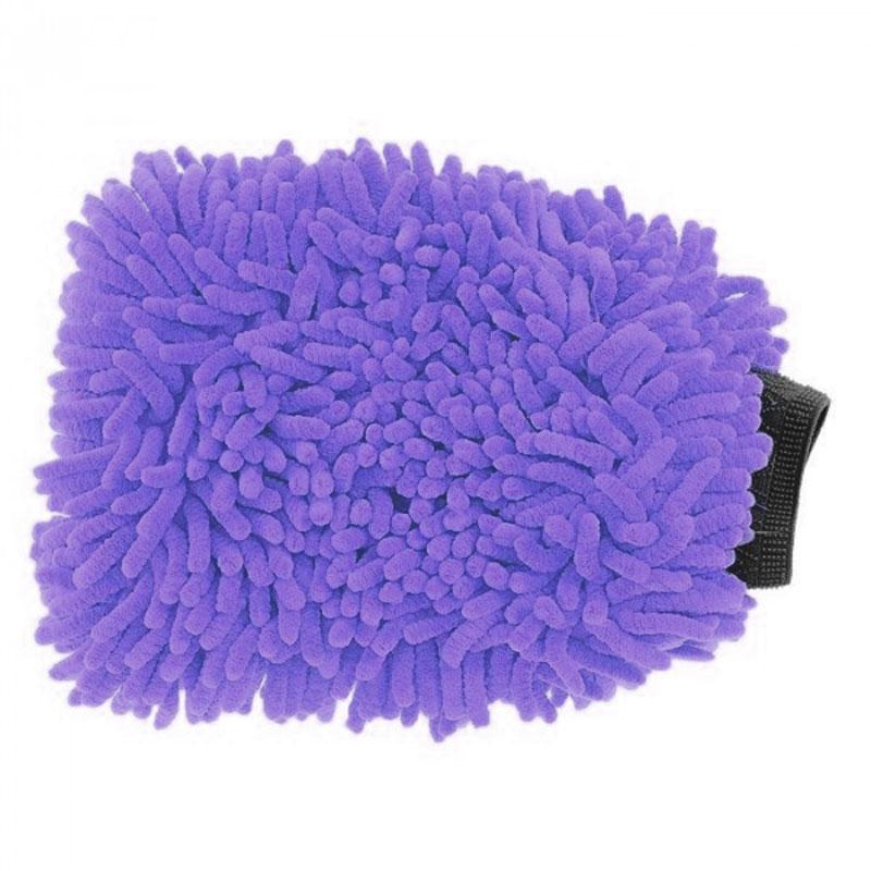 Варежка для мойки автомобиля Sapfire Luxury Chinchilla, цвет: фиолетовый, 27 х 23 см