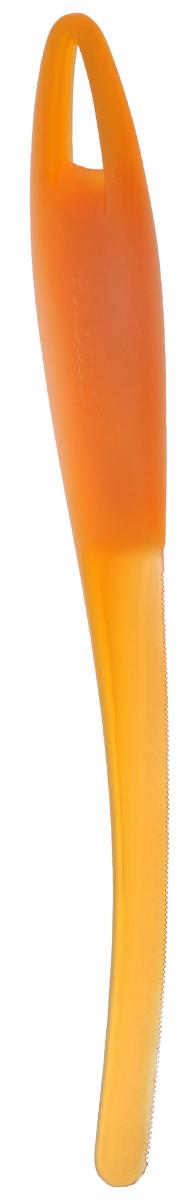 Нож для арбуза и дыни Tescoma Presto, цвет: оранжевый, длина 23 см420622_оранжевыйНож Tescoma Presto предназначен для отделения кожуры арбуза и дыни от мякоти. Подходит для арбузов, желтой дыни, подмаренника, мускусной дыни. Нож выполнен из высококачественного устойчивого пластика. Можно мыть в посудомоечной машине.