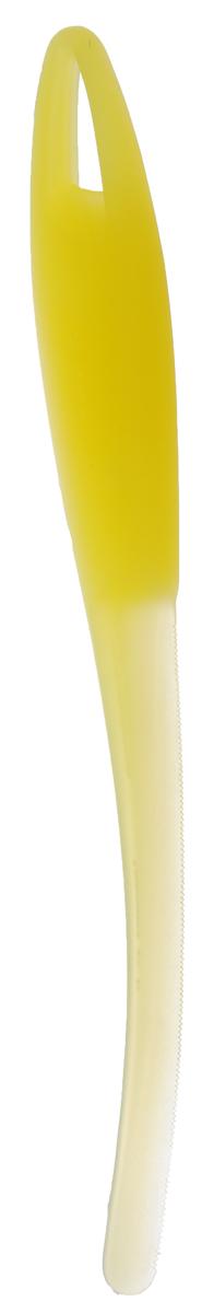 Нож для арбуза и дыни Tescoma Presto, цвет: желтый, длина 23 см420622_желтыйНож Tescoma Presto предназначен для отделения кожуры арбуза и дыни от мякоти. Подходит для арбузов, желтой дыни, подмаренника, мускусной дыни. Нож выполнен из высококачественного устойчивого пластика. Можно мыть в посудомоечной машине.