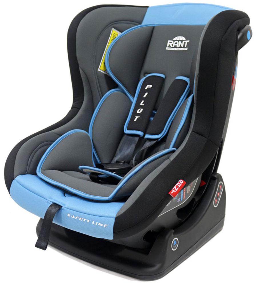 Rant Автокресло Pilot до 18 кг цвет синий4630008874370Детское автокресло Pilot - разработано для детей весом 0-18 кг (ориентировочно с рождения до 4-х лет). Автокресло может устанавливаться как по ходу движения, так и против хода движения. Для новорожденного малыша весом 0-9 кг автокресло фиксируется в автомобиле против хода движения (ребенок лицом назад), пока малыш научится хорошо сидеть. С 7-8 месяцев автокресло фиксируется лицом вперед и эксплуатируется приблизительно до 4-х лет (при весе ребенка 9-18 кг). Особенности: Удобное сидение анатомической формы с мягким матрасиком делает кресло комфортным и безопасным для малышей. Боковая защита обезопасит ребенка от ударов при боковых столкновениях. Спинка автокресла имеет регулировку наклона в 3-х положениях. Положение наклона спинки автокресла для комфортного сна в длительных поездках легко регулируются одной рукой при помощи специального рычага, расположенного в передней части автокресла (под чехлом). Автокресло оснащено пятиточечными ремнями безопасности с мягкими плечевыми...