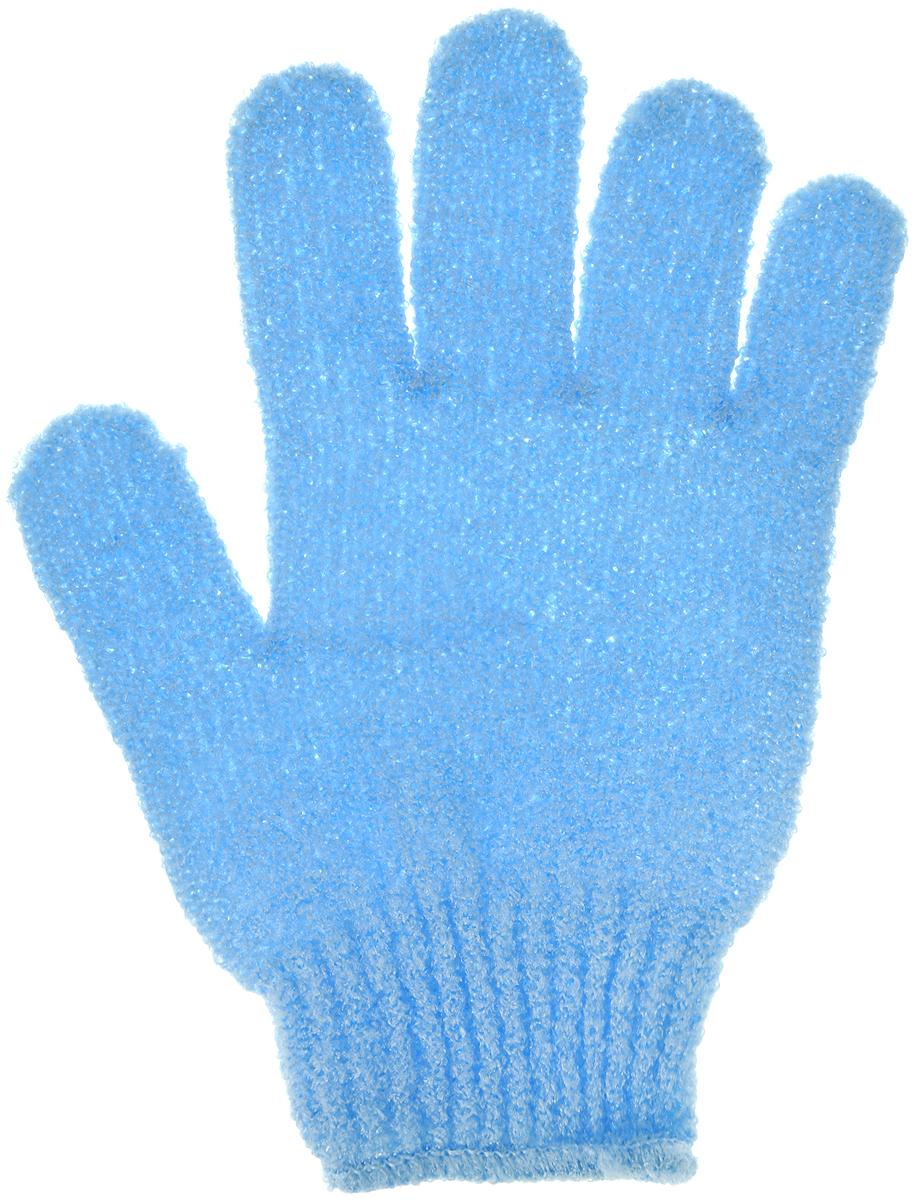 Перчатка массажная The Body Time, цвет: голубой, 17,5 х 12,5 см5720_ голубой1Массажная перчатка The Body Time выполненная из нейлона, прекрасно массирует, тонизирует и очищает кожу. Обладая эффектом скраба, перчатка мягко отшелушивает верхний слой эпидермиса, стимулируя рост новых, молодых клеток, делая кожу здоровой и красивой. Перчатка используется для душа или для массажных процедур. Размер перчатки: 17,5 х 12,5 см.