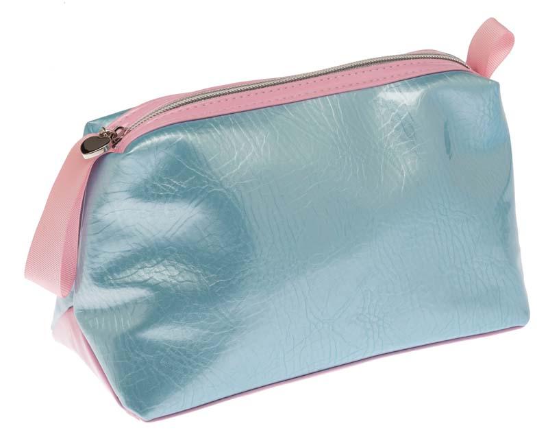 Косметичка женская Dewal, цвет: голубой, розовый. BG-144BG-144Изделие предназначено для хранения косметических аксессуаров. Изготовлено из полимерного материала .