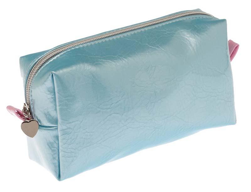 Косметичка Dewal, цвет: голубой, розовый. BG-145BG-145Яркая косметичка Dewal выполнена из полимерного термопластичного материала. Бегунок молнии оформлен подвеской в виде сердца. Изделие содержит одно вместительное отделение, которое закрывается на застежку-молнию. Женская косметичка - это стильный и полезный аксессуар для любой современной модницы. В косметичке поместится вся необходимая косметика, а благодаря компактным размерам ее всегда можно носить с собой в сумочке.