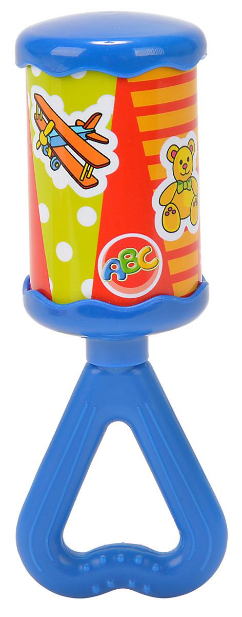 Simba Погремушка цвет голубой4011305_голубойЯркая и красочная погремушка Simba обязательно привлечет внимание малыша и поможет ему начать познавать мир, развивая необходимые в будущем навыки и способности. Погремушка выполнена в виде цилиндра на длинной ручке треугольной формы, за которую малышу будет удобно держаться. Ручка погремушки дополнена рельефными точками, которые будут массировать десны, если малыш захочет погрызть игрушку. При встряхивании погремушка издает мелодичный звон. Забавная погремушка поможет малышу научиться фокусировать внимание, держать предметы, различать звуки, а также познакомит с формами и цветами. С первых месяцев жизни малыш начинает интересоваться яркими, подвижными предметами, ведь они являются его главными помощниками в изучении удивительного мира. Погремушка развивает мелкую моторику и слуховое восприятие.