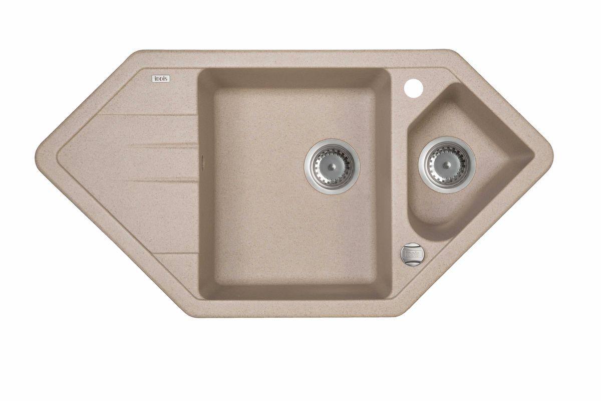 Мойка Iddis Vane G, granucryl, песок, угловая, 1 1/2 чаши, 96 х 50 см. V28P965i87V28P965i87Мойки для кухни IDDIS производятся из особого материала Granucryl: 80% натуральной гранитной крошки производства Германии 20% акриловой смолы Благодаря этому он имеет высокую устойчивость к физическим и механическим воздействиям, стойкость к воздействию средств бытовой химии и перепадам температур во время эксплуатации – свойства, необходимые для комфортного и надежного использования мойки на современной кухне. Термостойкость. Granucryl выдерживает температуру до 280?С, что позволяет хозяйкам ставить на мойку даже раскаленную посуду во время приготовления пищи. Стойкость цвета. Однородность материала Granucryl и высокотемпературная пигментация гранитной крошки обеспечивает первозданную яркость цвета мойки в течение всего периода эксплуатации. Пигментация происходит во вращающихся печах при температуре до 600 градусов. Каждая частица гранита химически связывается с пигментом, получая свой неповторимый цвет. При этом цвет никогда не выцветает и не может...