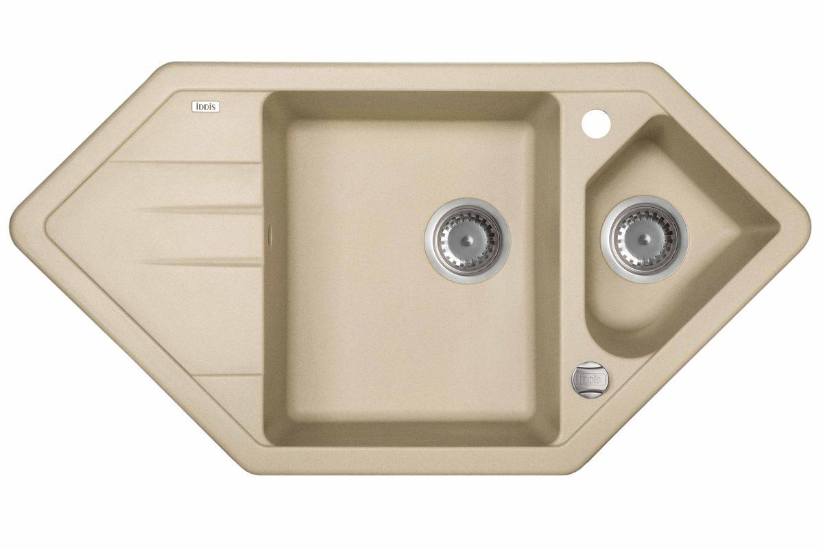 Мойка Iddis Vane G, granucryl, сафари, угловая, 1 1/2 чаши, 96 х 50 см. V29S965i87V29S965i87Мойки для кухни IDDIS производятся из особого материала Granucryl: 80% натуральной гранитной крошки производства Германии 20% акриловой смолы Благодаря этому он имеет высокую устойчивость к физическим и механическим воздействиям, стойкость к воздействию средств бытовой химии и перепадам температур во время эксплуатации – свойства, необходимые для комфортного и надежного использования мойки на современной кухне. Термостойкость. Granucryl выдерживает температуру до 280?С, что позволяет хозяйкам ставить на мойку даже раскаленную посуду во время приготовления пищи. Стойкость цвета. Однородность материала Granucryl и высокотемпературная пигментация гранитной крошки обеспечивает первозданную яркость цвета мойки в течение всего периода эксплуатации. Пигментация происходит во вращающихся печах при температуре до 600 градусов. Каждая частица гранита химически связывается с пигментом, получая свой неповторимый цвет. При этом цвет никогда не выцветает и не может...