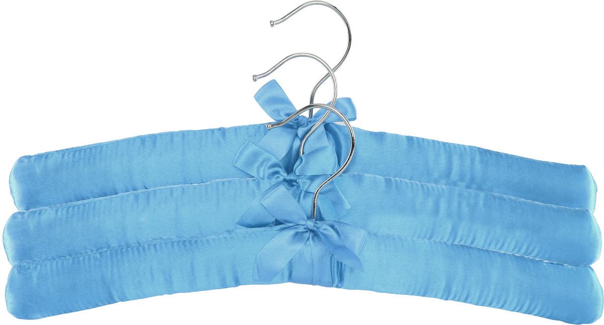 Набор вешалок для одежды Home Queen, цвет: голубой, 3 шт57026_голубойНабор Home Queen состоит из трех вешалок, изготовленных из дерева и текстиля. Вешалки идеально подойдут для деликатной одежды из шерсти и нежных тканей. Набор Home Queen станет практичным и полезным в вашем гардеробе. С ним ваша одежда избежит ненужных растяжек и провисаний. Комплектация: 3 шт. Размер вешалки: 38 х 3,5 х 11,5 см.