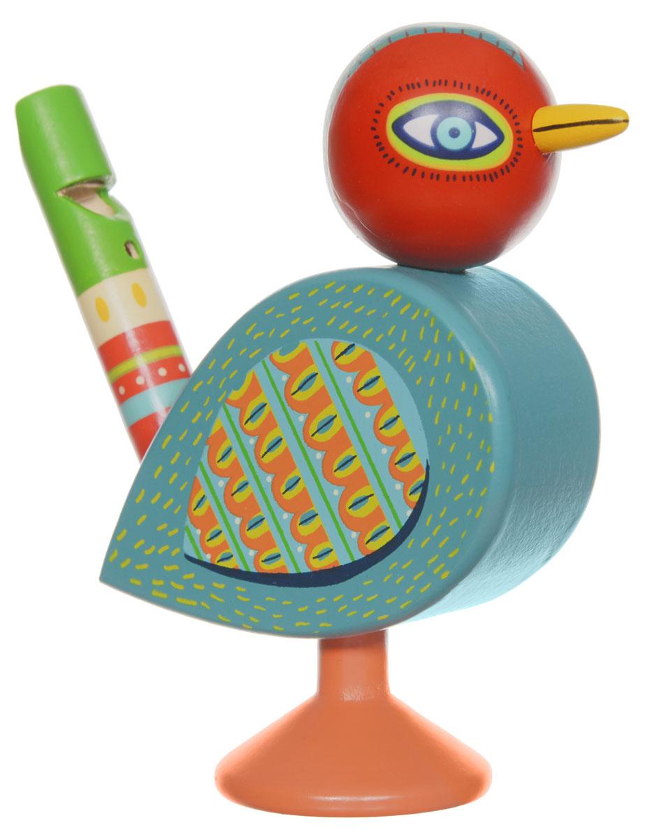 Djeco Музыкальный инструмент Свистулька06009Детский свисток Птичка от французского производителя Djeco - это красочный музыкальный инструмент, с помощью которого ребенок будет развивать свои творческие и музыкальные способности. Свисток выполнен в виде милой птички, он очень яркий и красочный. С его помощью ребенок будет придумывать новые звуки и мелодии. Свисток изготовлен из высококачественного натурального дерева и покрыт безопасными красками. Игра на детских музыкальных инструментах прекрасно развивает музыкальный слух, творческие способности малыша, координацию движений и детскую моторику.