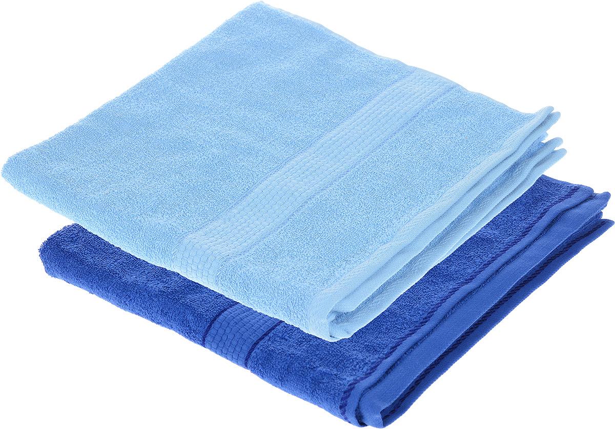 Набор махровых полотенец Aisha Home Textile, цвет: голубой, синий, 70 х 140 см, 2 штУзТ-ПМ-104-06-19Набор Aisha Home Textile состоит из двух махровых полотенец, выполненных из натурального 100% хлопка. Изделия отлично впитывают влагу, быстро сохнут, сохраняют яркость цвета и не теряют формы даже после многократных стирок. Полотенца Aisha Home Textile очень практичны и неприхотливы в уходе. Комплектация: 2 шт.