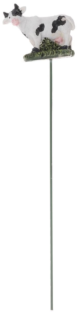 Штекер декоративный Green Apple Буренка, для цветочного горшка, цвет: белый, черный, зеленый, длина 25 смGA200-05_белыйДекоративный штекер Green Apple Беренка предназначен для разрыхления почвы в цветочных горшках и украшения цветочной композиции. Основание штекера изготовлено из стали и покрыто темно-зеленой эмалью, фигурка выполнена из полистоуна. Декоративный штекер Green Apple Буренка станет приятным и оригинальным украшением цветочного горшка. Размер фигурки: 6 х 3 х 5 см.