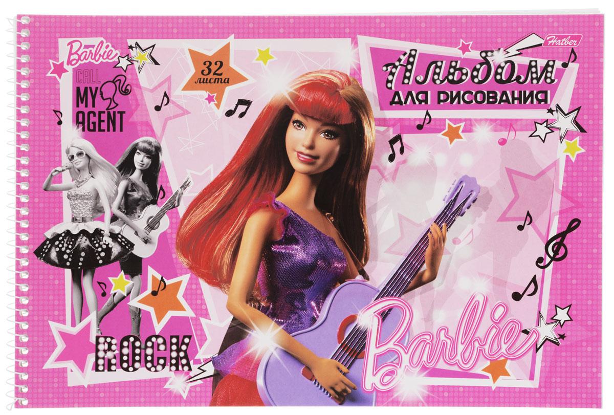 Hatber Альбом для рисования Barbie с гитарой цвет розовый сиреневый 32 листа32А4Bсп_14006Альбом для рисования Hatber Barbie непременно порадует маленькую художницу и вдохновит ее на творчество. Альбом изготовлен из белоснежной офсетной бумаги с яркой обложкой из мелованного картона, оформленной изображением Барби с гитарой. Высокое качество бумаги позволяет рисовать в альбоме карандашами, фломастерами, акварельными и гуашевыми красками. Рекомендуемый возраст: 0+.
