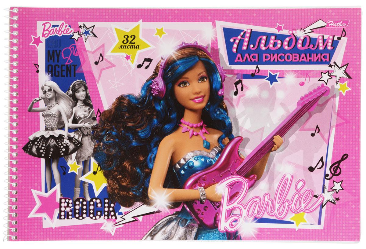 Hatber Альбом для рисования Barbie с гитарой цвет розовый синий 32 листа32А4Bсп_14004Альбом для рисования Hatber Barbie непременно порадует маленькую художницу и вдохновит ее на творчество. Альбом изготовлен из белоснежной офсетной бумаги с яркой обложкой из мелованного картона, оформленной изображением Барби с гитарой. Высокое качество бумаги позволяет рисовать в альбоме карандашами, фломастерами, акварельными и гуашевыми красками. Рекомендуемый возраст: 0+.
