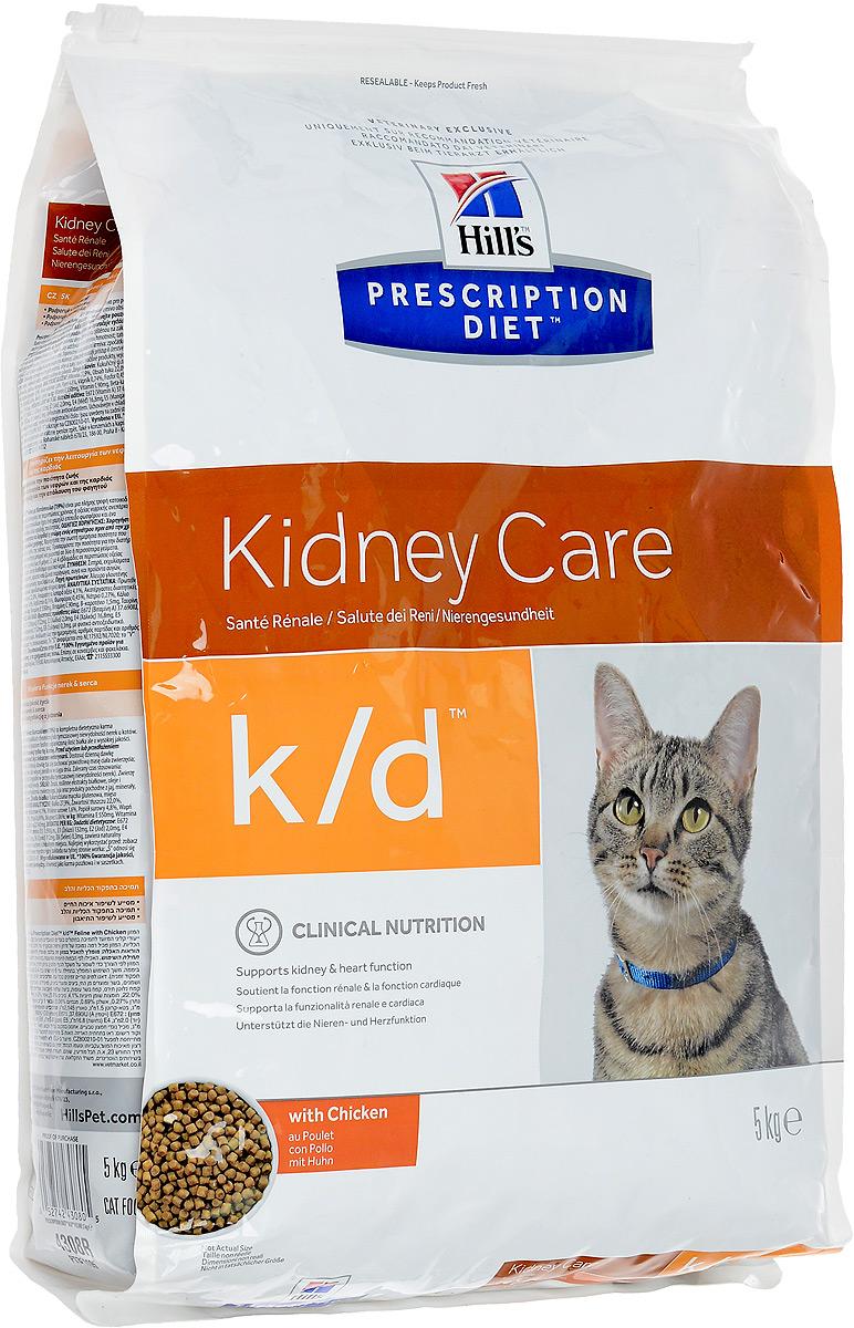 Корм сухой Prescription Diet Kidney Care для взрослых кошек, для поддержания функции почек и сердца, с курицей, 5 кг11163_дизайн 2Сухой корм Prescription Diet Kidney Care - полноценный диетический рацион для поддержания функции почек при хронической и временной почечной недостаточности у кошек. Содержит пониженный уровень фосфора и оптимальный уровень протеина высокой биологической ценности. Особенности корма Prescription Diet Kidney Care: - контролируемый уровень протеина высокого качества предотвращает токсическое расщепление продуктов обмена, что вызывает негативные клинические признаки; - добавление Омега-3 жирных кислот из рыбьего жира способствует улучшению кровотока в почках; - помогает нейтрализовать действие свободных радикалов за счет высокого содержания антиоксидантов; - обеспечивает превосходный вкус и возможность смешивания сухого и влажного рациона для разнообразия рациона вашей кошки. Сухой корм Prescription Diet Kidney Care помогает продлить и значительно улучшить качество жизни животных, снижая прогрессирование клинических признаков. ...
