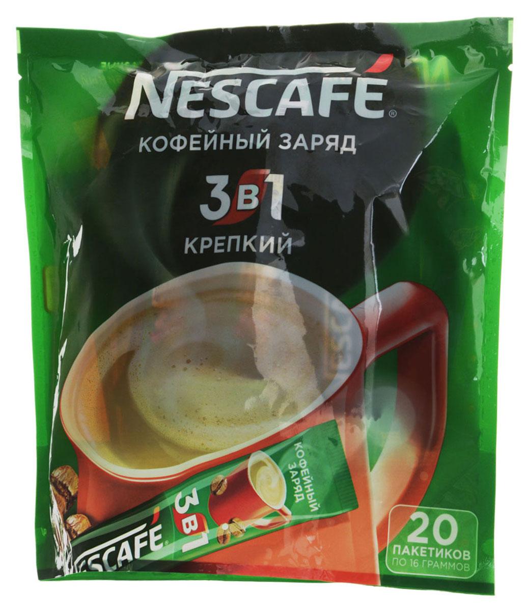 Nescafe 3 в 1 Крепкий кофе растворимый, 20 шт