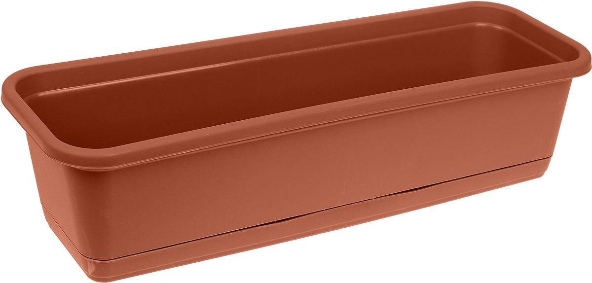 Балконный ящик Idea, с поддоном, цвет: терракотовый, 60 х 18 смМ 3221_терракотовыйБалконный ящик Idea изготовлен из прочного полипропилена и оснащен поддоном для стока воды. Изделие прекрасно подходит для выращивания рассады, растений и цветов в домашних условиях. Размер ящика (с учетом поддона): 60 х 18 х 16 см.
