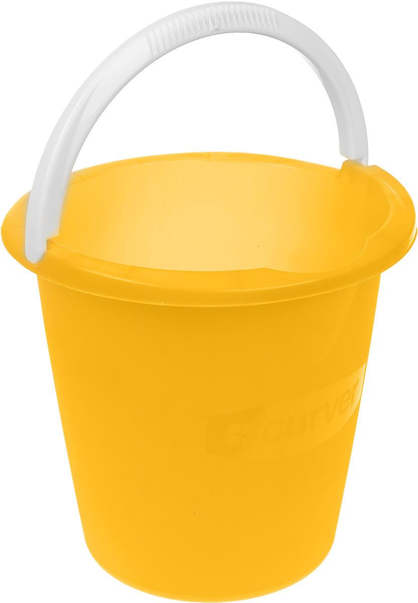 Ведро Curver, цвет: желтый, 10 л1301_желтыйВедро Curver выполнено из прочного пластика. Изделие снабжено небольшим носиком и удобной рельефной ручкой. На внутреннюю поверхность нанесены отметки литража. Такое ведро пригодится в любом хозяйстве, оно отлично подойдет для мытья полов или хранения мусора. Диаметр ведра (по верхнему краю): 29 см. Высота: 28 см.