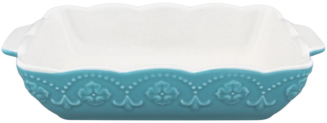 Блюдо для запекания Elan Gallery Узор, прямоугольное, цвет: бирюзовый, белый, 28 х 16 см830086Блюдо для запекания Elan Gallery Узор, изготовленное из высококачественной жаропрочной керамики, идеально подойдет для приготовления блюд в духовке, а также сервировки стола. Такое блюдо станет отличным дополнением к вашему кухонному инвентарю и подчеркнет прекрасный вкус. Размер по верхнему краю (с учетом ручек): 28 х 16 см. Высота стенки: 6 см.