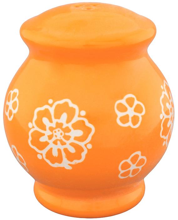 Солонка Elan Gallery Цветочное поле, цвет: белый, оранжевый, 8 х 8 х 9 см830185Оригинальная солонка Elan Gallery Цветочное поле изготовлена из высококачественной керамики. Изделие имеет три отверстия для высыпания специй. На дне располагается отверстие, позволяющее наполнить емкость, которое снабжено силиконовой вставкой. Солонка Elan Gallery Цветочное поле украсит сервировку любого стола и подчеркнет прекрасный вкус хозяина. Не использовать в микроволновой печи.