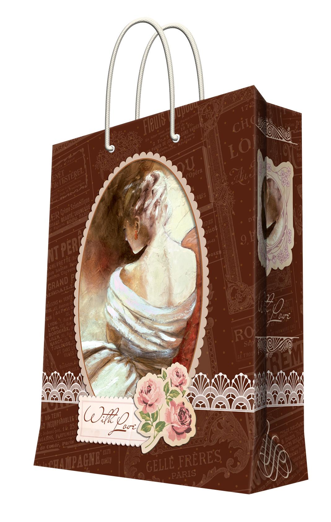 Пакет подарочный Феникс-Презент После бала, 26 х 12,7 х 32,4 см35967Подарочный пакет Феникс-Презент После бала, изготовленный из плотной бумаги, станет незаменимым дополнением к выбранному подарку. Дно изделия укреплено картоном, который позволяет сохранить форму пакета и исключает возможность деформации дна под тяжестью подарка. Пакет выполнен с глянцевой ламинацией, что придает ему прочность, а изображению - яркость и насыщенность цветов. Для удобной переноски на пакете имеются две ручки из шнурков. Подарок, преподнесенный в оригинальной упаковке, всегда будет самым эффектным и запоминающимся. Окружите близких людей вниманием и заботой, вручив презент в нарядном, праздничном оформлении. Плотность бумаги: 128 г/м2.