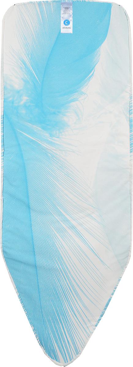 Чехол для гладильной доски Brabantia Перо, с войлоком, 124 х 45 см264825_голубое пероЧехол для гладильной доски Brabantia Перо с войлоком подарит вашей доске новую жизнь и создаст идеальную поверхность для глажения и отпаривания белья. Изделие выполнено из натурального 100% хлопка с подкладкой из поролона (4 мм) и войлока (4 мм). Чехол разработан специально для гладильных досок Brabantia и подходит для большинства утюгов и паровых систем. Благодаря системе фиксации (эластичный шнурок с ключом для натяжения и резинка с крючками по центру) чехол легко крепится к гладильной доске, а поверхность всегда остается гладкой и натянутой. С помощью цветной маркировки на чехле и гладильной доске вы легко подберете чехол подходящего размера. Размер рабочей поверхности чехла: 124 х 45 см.