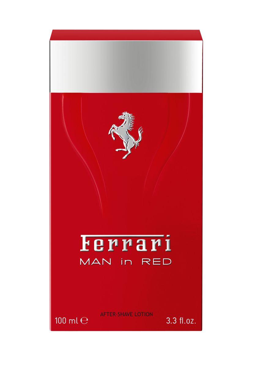 Ferrari Лосьон после бритья MAN in RED, 100 мл67000537Man in Red Ferrari - это аромат для мужчин, принадлежит к группе ароматов фужерные. Это новый аромат, Man in Red выпущен в 2015. Верхние ноты: Бергамот, Красное яблоко и кардамон; ноты сердца: Лаванда, желтая слива и Апельсиновый цвет; ноты базы: Белый кедр, Тонка бобы и Лабданум.