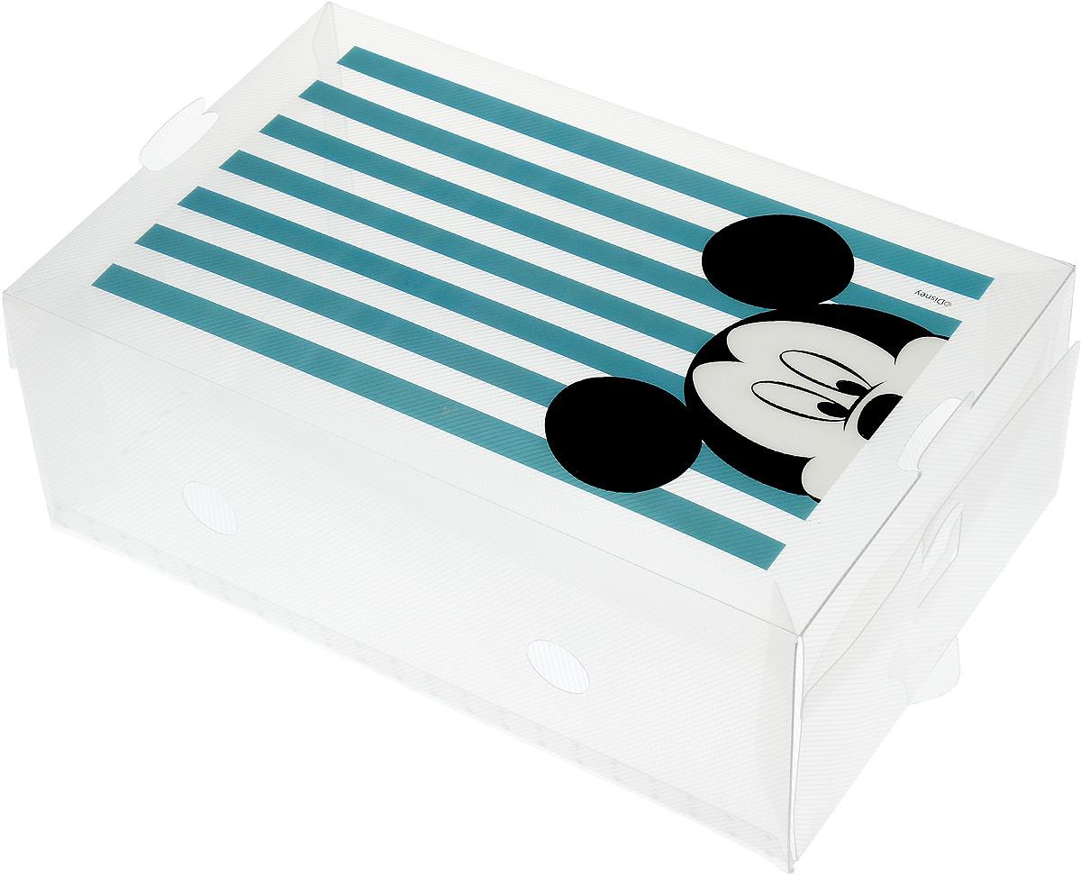 Коробка для хранения обуви Disney Микки, 33 х 20 х 12 см64913Коробка Disney Микки изготовлена из высококачественного прозрачного полипропилена. Она специально предназначена для хранения обуви. Изделие легко собирается и не занимает много места. С помощью боковой крышки можно доставать обувь, не снимая коробку с полки. Коробка для хранения Disney Микки- идеальное решение для аккуратного хранения вашей обуви в межсезонье. Размер коробки (в собранном виде): 33 х 20 х 12 см.