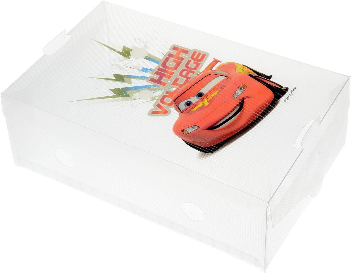 Коробка для хранения обуви Disney Тачки, 30 х 18 х 10 см64909Коробка Disney Тачки изготовлена из высококачественного прозрачного полипропилена. Она специально предназначена для хранения обуви. Изделие легко собирается и не занимает много места. С помощью боковой крышки можно доставать обувь, не снимая коробку с полки. Коробка для хранения Disney Тачки- идеальное решение для аккуратного хранения вашей обуви в межсезонье. Размер коробки (в собранном виде): 30 х 18 х 10 см.