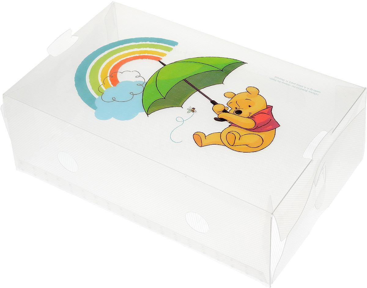 Коробка для хранения обуви Disney Винни и его друзья, 30 х 18 х 10 см64910Коробка Disney Винни и его друзья изготовлена из высококачественного прозрачного полипропилена. Она специально предназначена для хранения обуви. Изделие легко собирается и не занимает много места. С помощью боковой крышки можно доставать обувь, не снимая коробку с полки. Коробка для хранения Disney Винни и его друзья- идеальное решение для аккуратного хранения вашей обуви в межсезонье. Размер коробки (в собранном виде): 30 х 18 х 10 см.