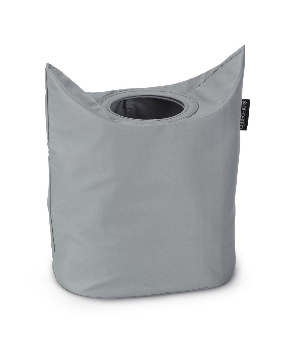 Сумка для белья Brabantia, цвет: серый. 102448102448Оригинальная сумка для белья экономит место и превращает вашу стирку в увлекательное занятие. С помощью складывающихся магнитных ручек сумка закрывается и превращается в корзину для белья с загрузочным отверстием. Собрались стирать? Поднимите ручки, и ваша сумка готова к использованию. Загрузочное отверстие для быстрой загрузки белья – просто сложите магнитные ручки; Большие удобные ручки для переноски; Удобно загружать белье в стиральную машину – большая вместимость и широкое отверстие; 2 года гарантии Brabantia.
