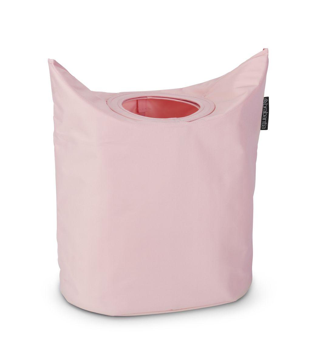 Сумка для белья Brabantia, цвет: розовый. 102547102547Большие удобные ручки для переноски. Большая вместимость и широкое отверстие. Загрузочное отверстие для быстрой загрузки белья – просто сложите магнитные ручки. 2 года гарантии Brabantia.