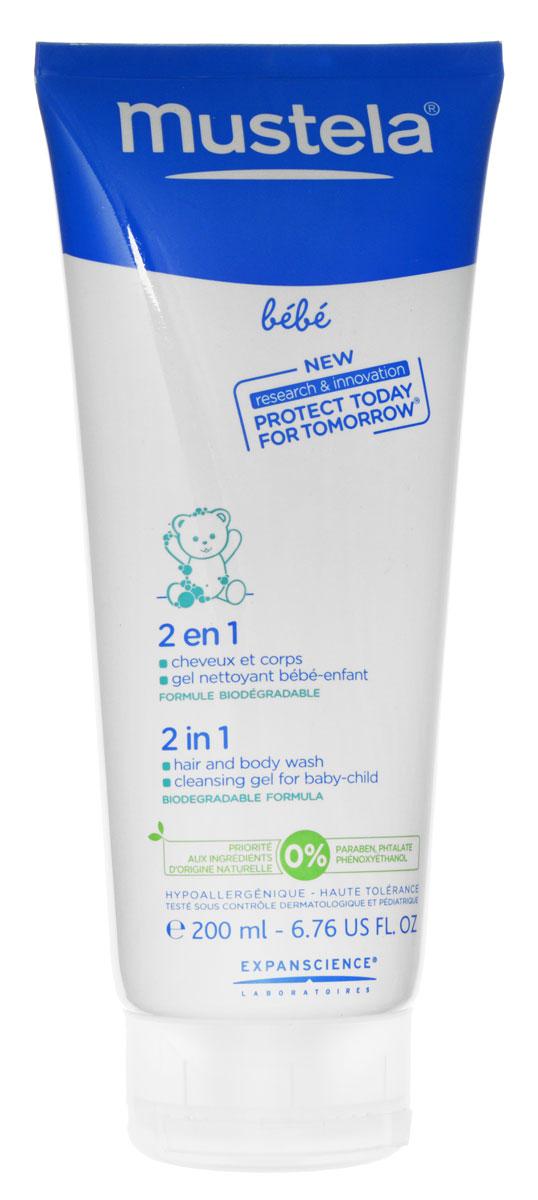 Mustela Гель-шампунь детский 2 в 1 200 мл27128/030749Гель-шампунь детский 2 в 1 Mustela разработан для мягкого очищения кожи и волос детей с первых дней жизни. Разработан для минимизации рисков аллергических реакций. Благодаря формуле, обогащенной запатентованным природным компонентом Avocado Perseose, способствует укреплению кожного барьера малыша и сохранению клеточных ресурсов его кожи Мягко и эффективно очищает кожу и волосы малыша с первых дней жизни. Не содержит мыла. Hе щиплет глаза. Без парабенов, фталатов, феноксиэтанола. Приоритет отдается ингредиентам природного происхождения Биоразлагаемая формула.