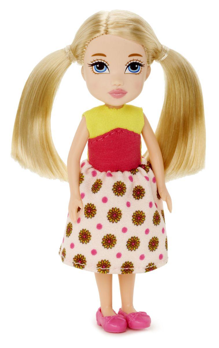 Moxie Мини-кукла Ниве цвет одежды желтый розовый538769Moxie - веселые подружки-подростки. Они яркие, модные, любознательные и дружные. Подружки не всегда следуют моде, они ее творят! У каждой из кукол свой собственный, неповторимый стиль, все они очень современны. Они не боятся пробовать что-то новое или творить яркие образы. В мире моды подружки ценят естественность и непосредственность, индивидуальность и самовыражение, отважность и любопытство, дружбу и взаимопомощь. Игры с куклами Moxie способствуют развитию наблюдательности, мелкой моторики, логики и художественного вкуса! Для изготовления кукол Moxie используется качественный материал. Кукла Moxie Ниве приведет в восторг вашего ребенка. Она выполнена в виде милой девочки-подростка. Куколка с длинными светлыми волосами одета в яркое летнее платье, на ножках - розовые туфельки. Ручки, ножки и голова Ниве подвижны, благодаря чему ей можно придавать различные позы. Ваша малышка с удовольствием будет играть с куклой, делать ей разнообразные прически, придумывать...