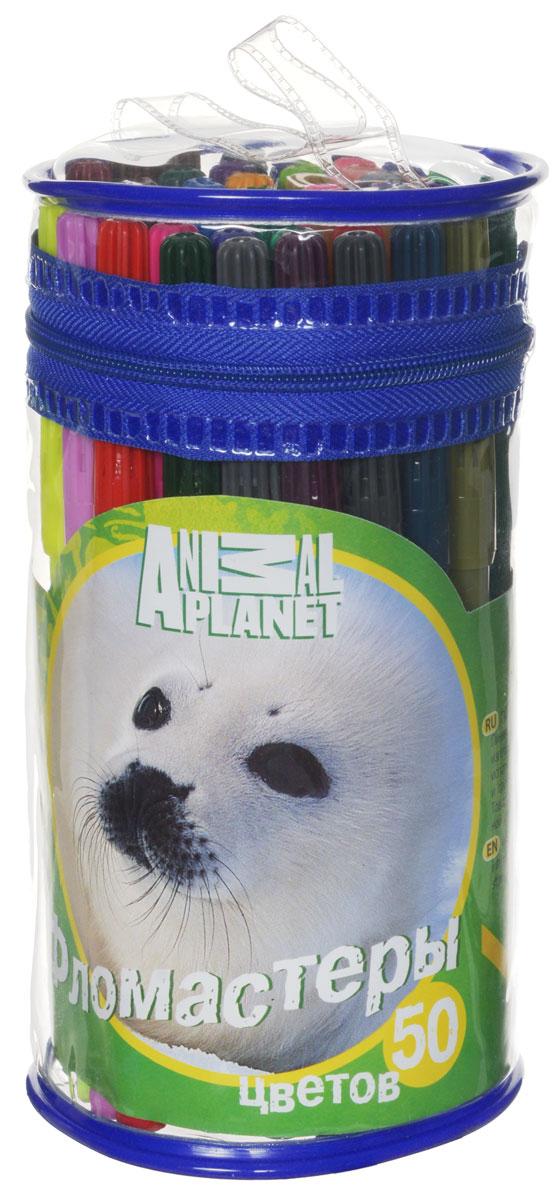Action! Набор фломастеров Animal Planet Нерпа 50 цветов AP-AWP105-50_нерпа