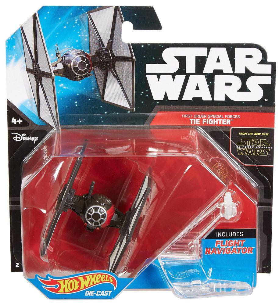 Hot Wheels Star Wars Звездный корабль The Fighter цвет черный