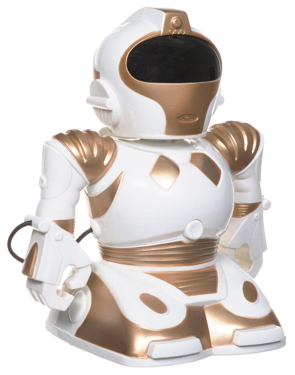 ABtoys Робот на радиоуправленииC-00061(TT338)Робот на радиоуправлении ABtoys обязательно привлечет внимание вашего ребенка и станет его любимой игрушкой. Робот с подвижными руками может двигаться вперед, вращаться и танцевать. Робот прекращает свое движение при нажатии сенсоров на ногах. Глаза робота светятся во время движения. При соприкосновении с другим предметом издает звук. Имеется функция записи. Для этого необходимо нажать кнопку на груди робота и говорить в течение 6 секунд на уровне рта игрушки, там где находится встроенный микрофон. Для воспроизведения записанного звука, нажмите на голову робота. Во время игры с роботом у ребенка развивается воображение, стимулируется игровая деятельность, улучшается координация движений. Робот работает от 4 батареек напряжением 1,5V типа АА (не входят в комплект). Пульт управления работает от 2 батареек напряжением 1,5V типа АА (не входят в комплект).