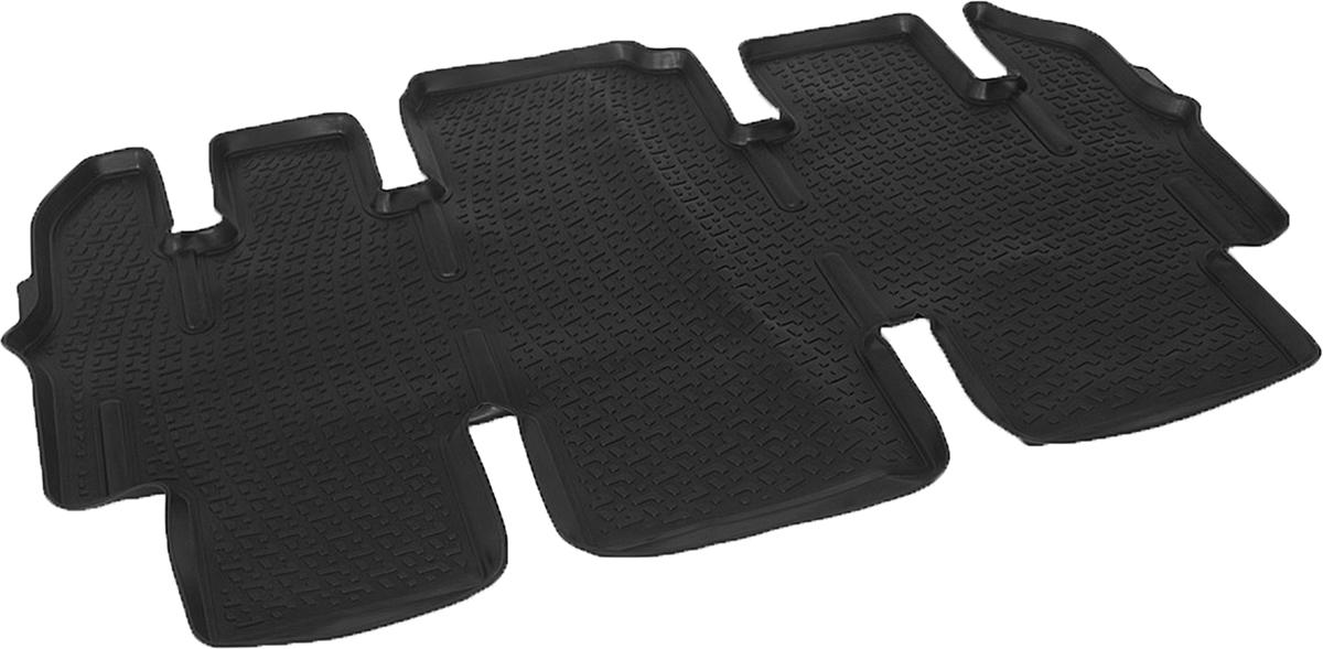 Коврики в салон автомобиля L.Locker, для Hyundai Starex (07-), второй ряд сидений0204160301Коврики L.Locker производятся индивидуально для каждой модели автомобиля из современного и экологически чистого материала. Изделия точно повторяют геометрию пола автомобиля, имеют высокий борт, обладают повышенной износоустойчивостью, антискользящими свойствами, лишены резкого запаха и сохраняют свои потребительские свойства в широком диапазоне температур (от -50°С до +80°С). Рисунок ковриков специально спроектирован для уменьшения скольжения ног водителя и имеет достаточную глубину, препятствующую свободному перемещению жидкости и грязи на поверхности. Одновременно с этим рисунок не создает дискомфорта при вождении автомобиля. Водительский ковер с предустановленными креплениями фиксируется на штатные места в полу салона автомобиля. Новая технология системы креплений герметична, не дает влаге и грязи проникать внутрь через крепеж на обшивку пола.