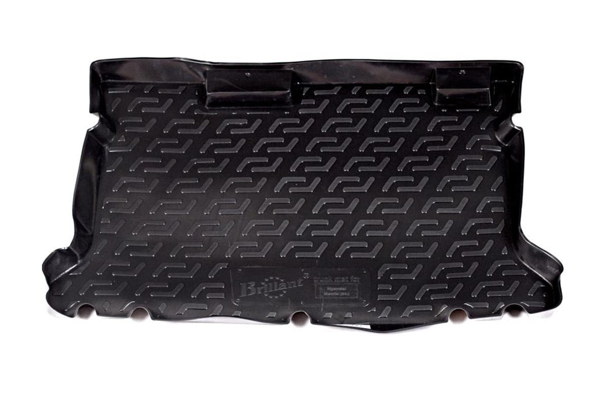 Коврик в багажник Hyundai Matrix (01-) полиуретан0104060101Коврики производятся индивидуально для каждой модели автомобиля из современного и экологически чистого материала, точно повторяют геометрию пола автомобиля, имеют высокий борт от 4 см до 6 см., обладают повышенной износоустойчивостью, антискользящими свойствами, лишены резкого запаха, сохраняют свои потребительские свойства в широком диапазоне температур (-50 +80 С).