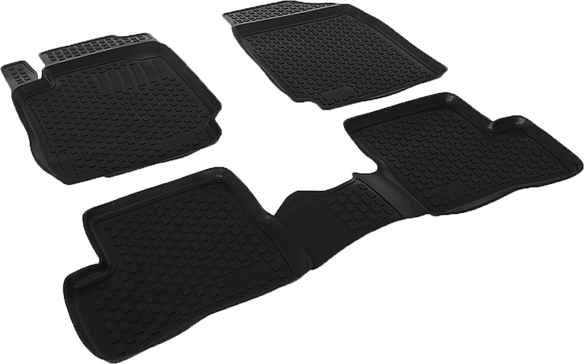 Коврики в салон автомобиля L.Locker, для Nissan Micra (02-), 4 шт0205090101Коврики L.Locker производятся индивидуально для каждой модели автомобиля из современного и экологически чистого материала. Изделия точно повторяют геометрию пола автомобиля, имеют высокий борт, обладают повышенной износоустойчивостью, антискользящими свойствами, лишены резкого запаха и сохраняют свои потребительские свойства в широком диапазоне температур (от -50°С до +80°С). Рисунок ковриков специально спроектирован для уменьшения скольжения ног водителя и имеет достаточную глубину, препятствующую свободному перемещению жидкости и грязи на поверхности. Одновременно с этим рисунок не создает дискомфорта при вождении автомобиля. Водительский ковер с предустановленными креплениями фиксируется на штатные места в полу салона автомобиля. Новая технология системы креплений герметична, не дает влаге и грязи проникать внутрь через крепеж на обшивку пола.